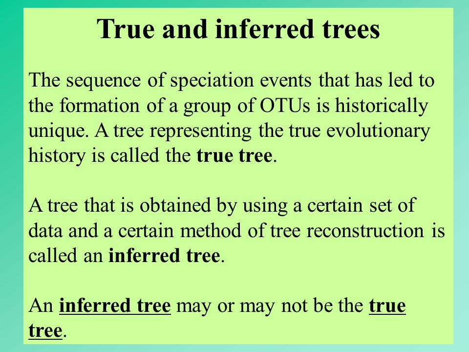 True and inferred trees