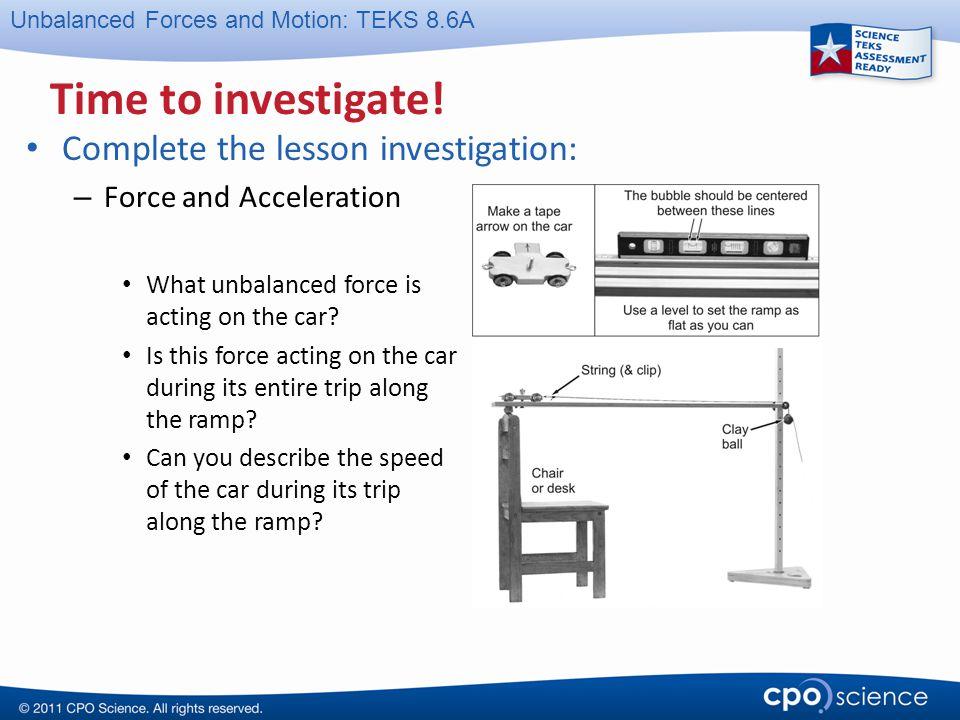 Time to investigate! Complete the lesson investigation: