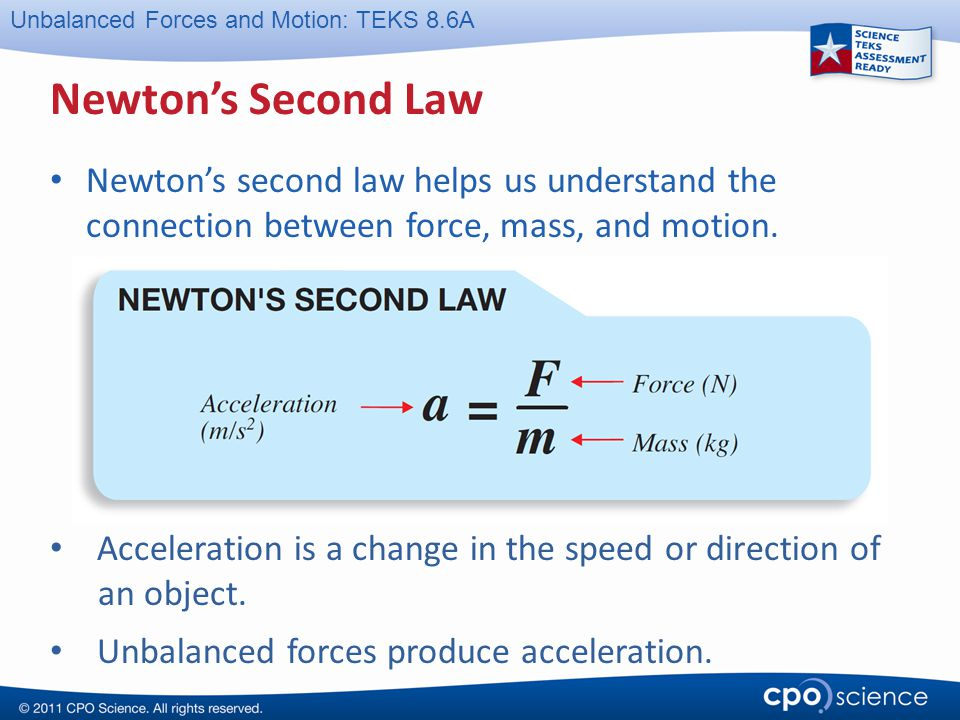 Newton's Second Law Newton's second law helps us understand the connection between force, mass, and motion.