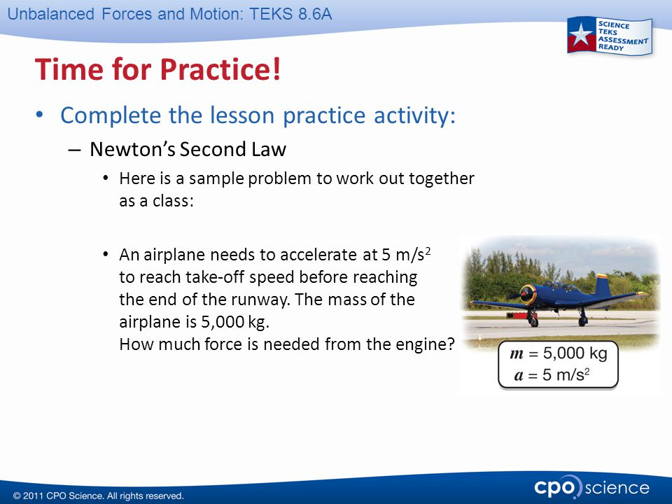 Time for Practice! Complete the lesson practice activity:
