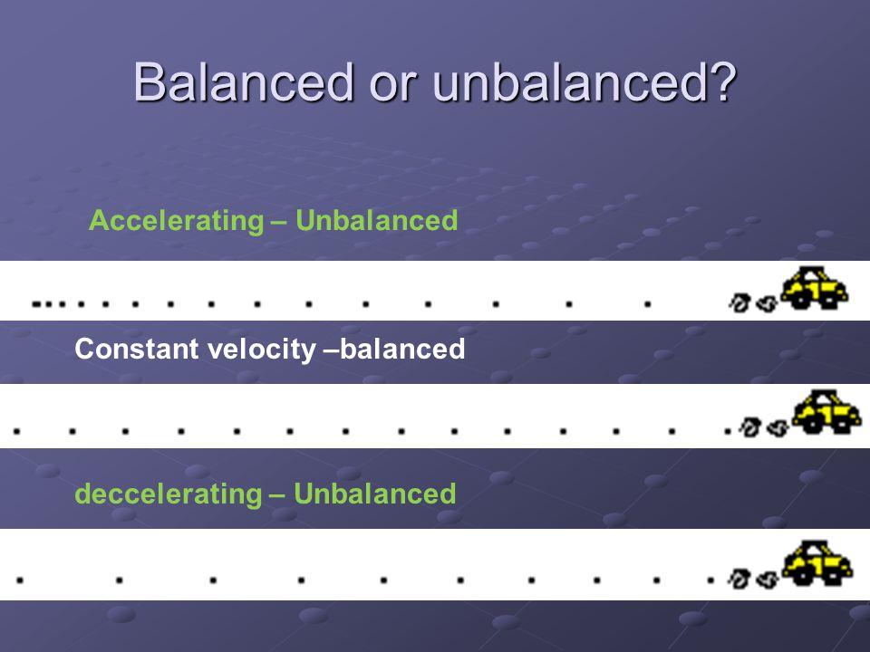 Balanced or unbalanced