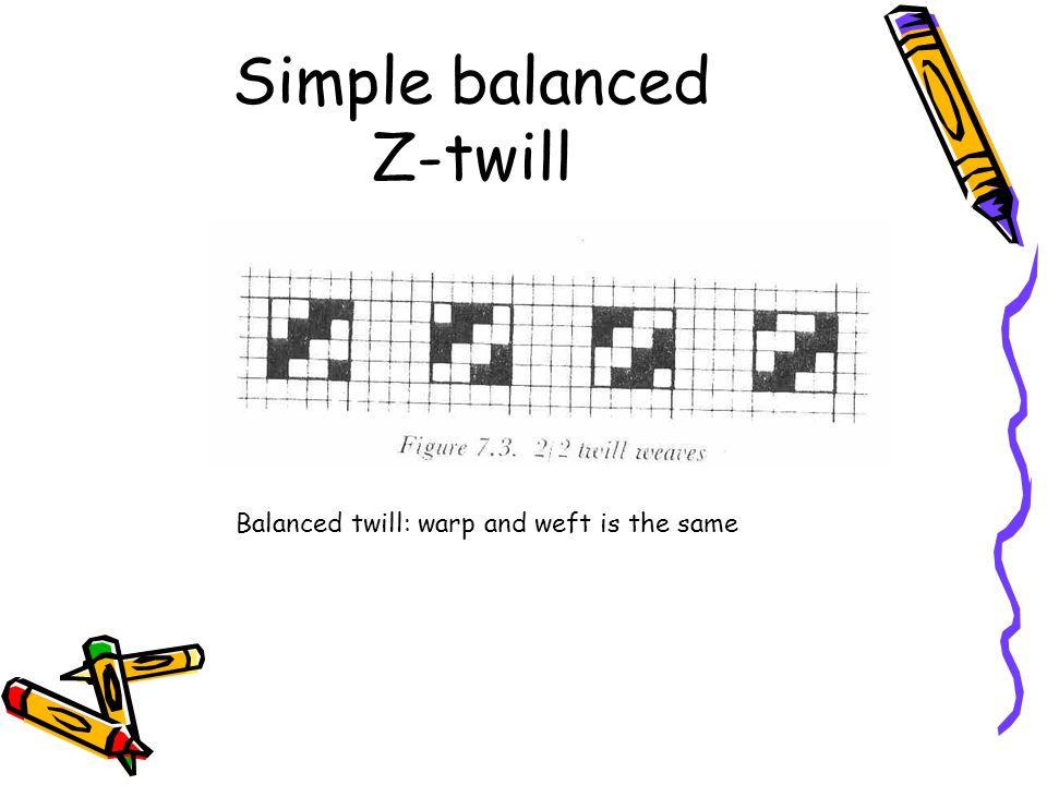 Simple balanced Z-twill