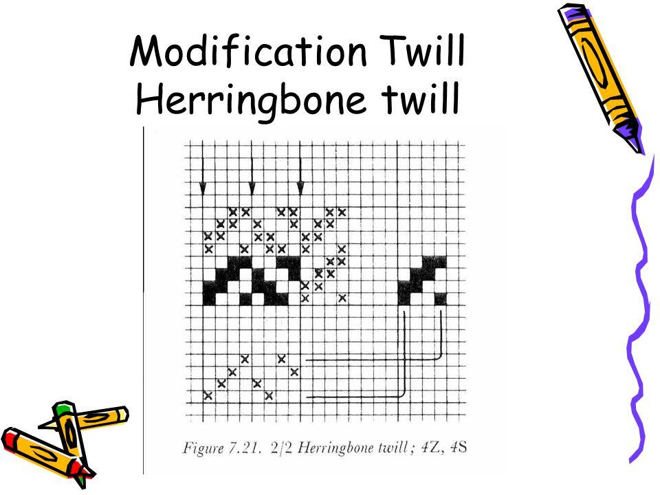 Modification Twill Herringbone twill