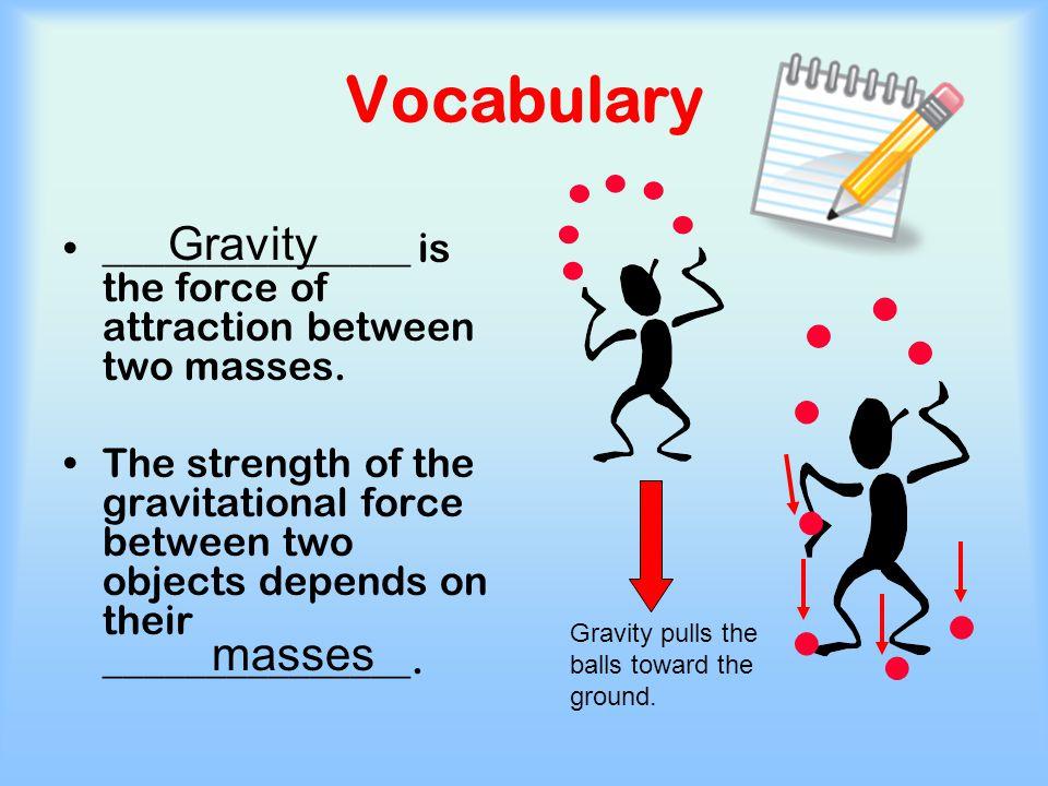 Vocabulary Gravity masses
