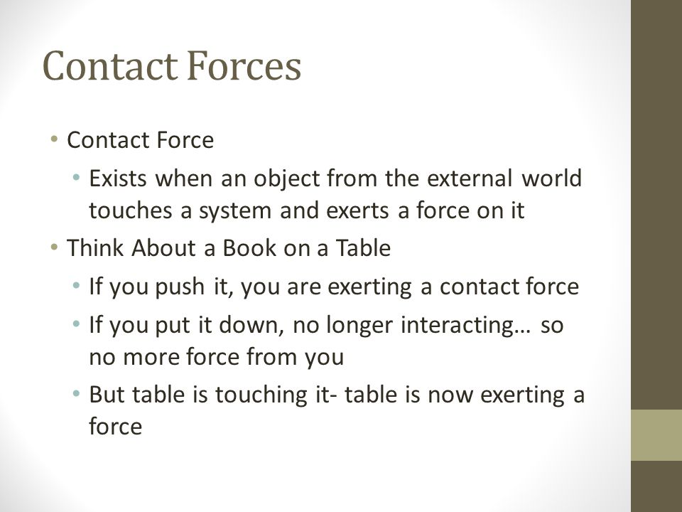 Contact Forces Contact Force