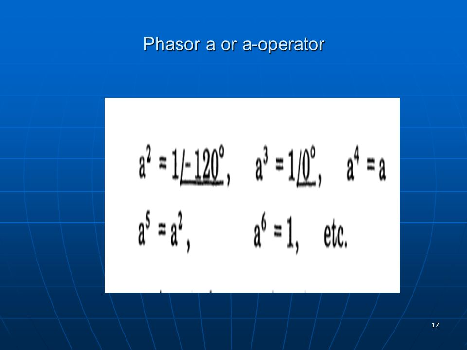 Phasor a or a-operator