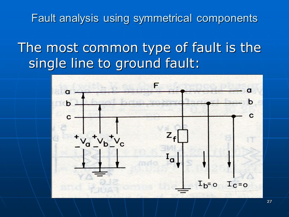 Fault analysis using symmetrical components