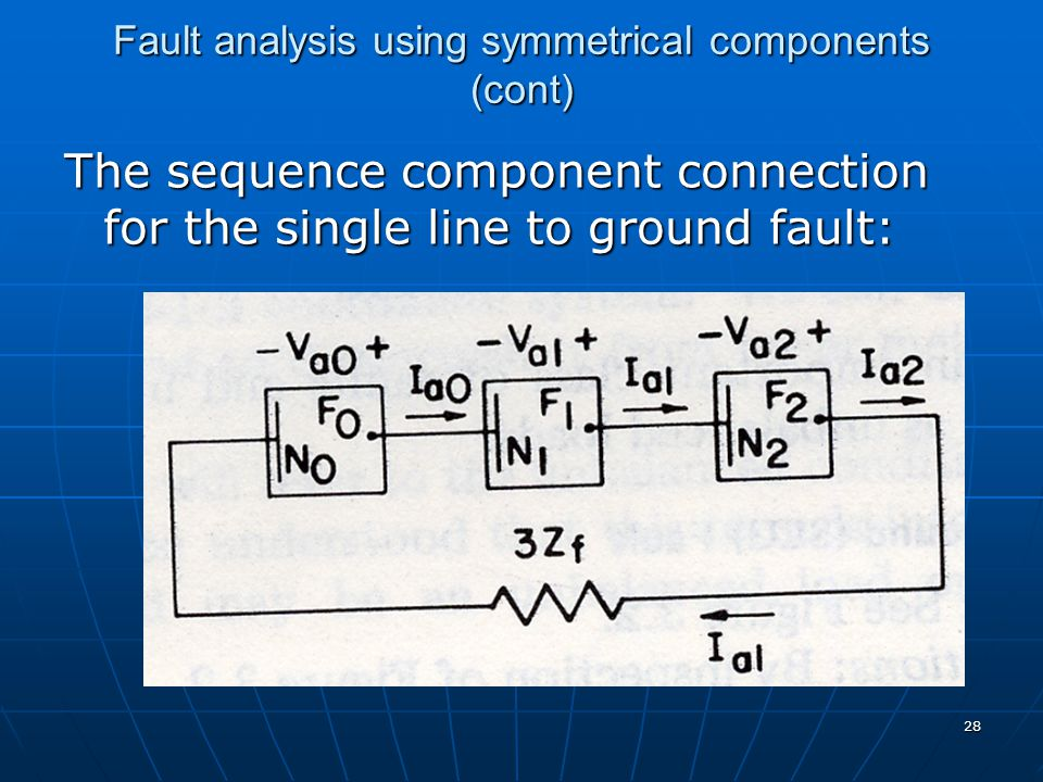 Fault analysis using symmetrical components (cont)
