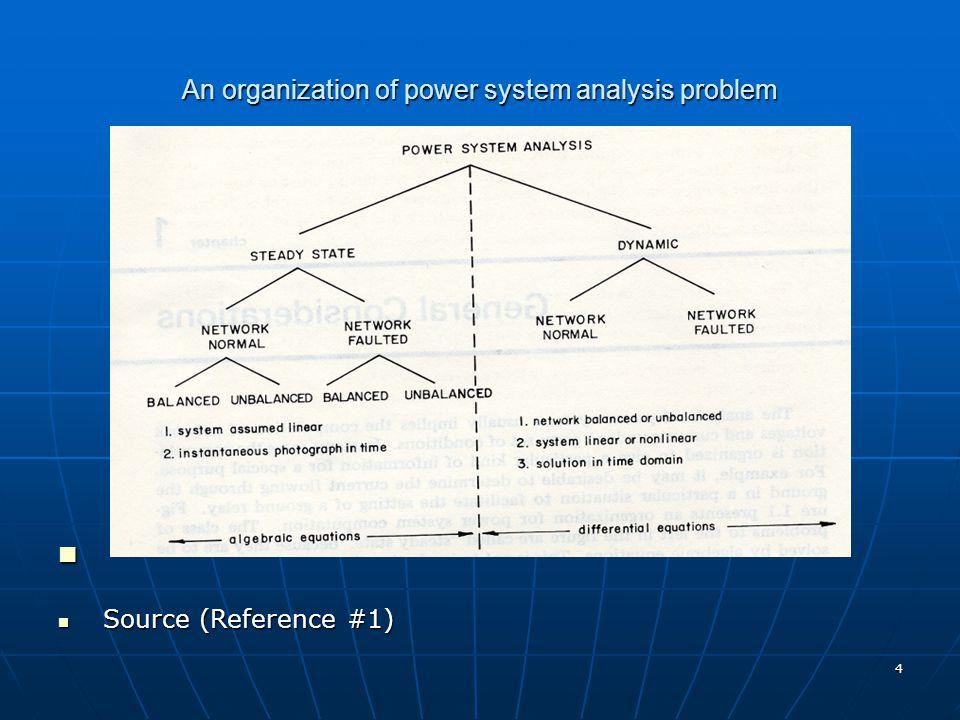 An organization of power system analysis problem