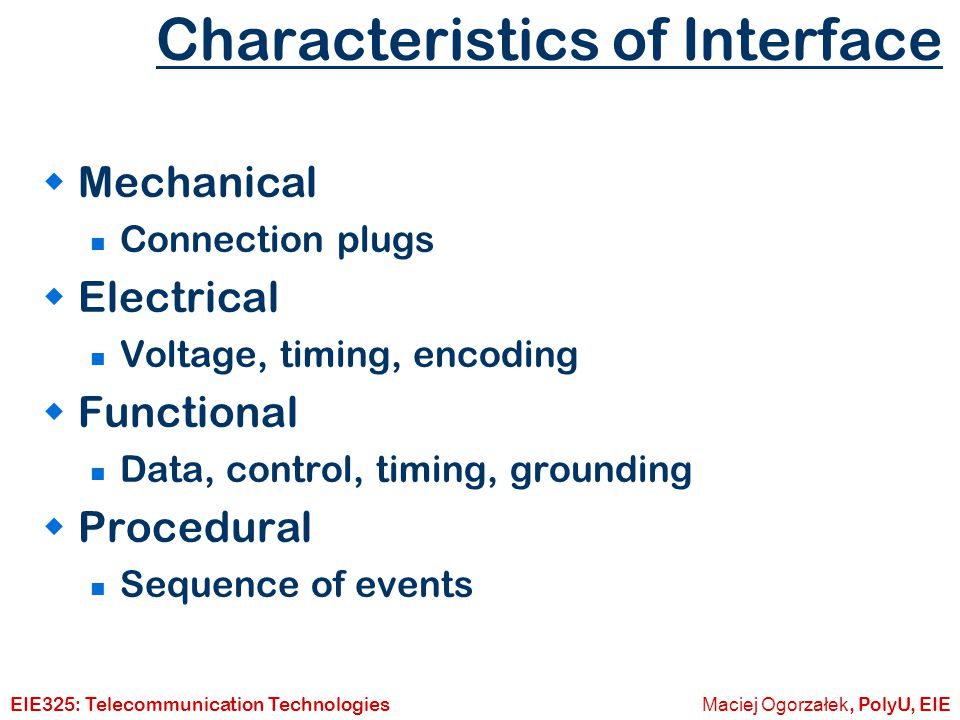 Characteristics of Interface
