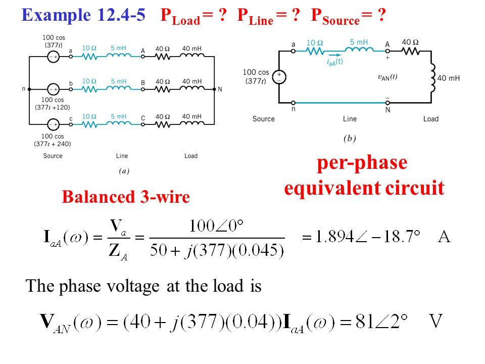 per-phase equivalent circuit