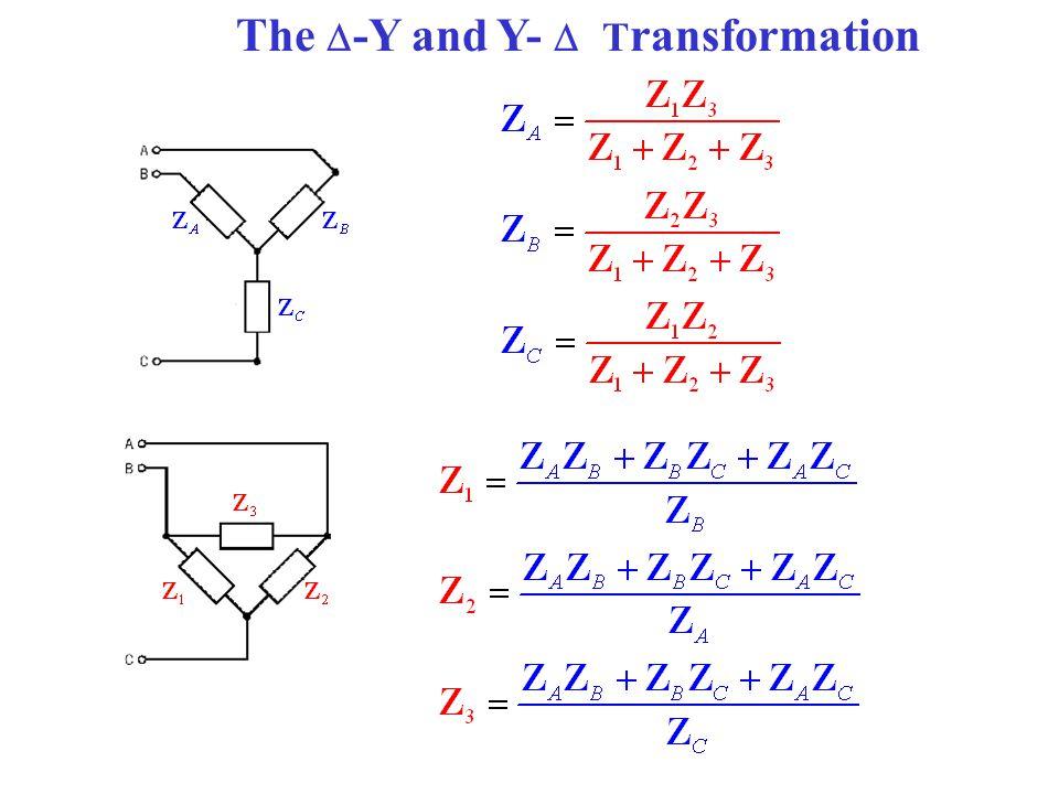 The -Y and Y-  Transformation