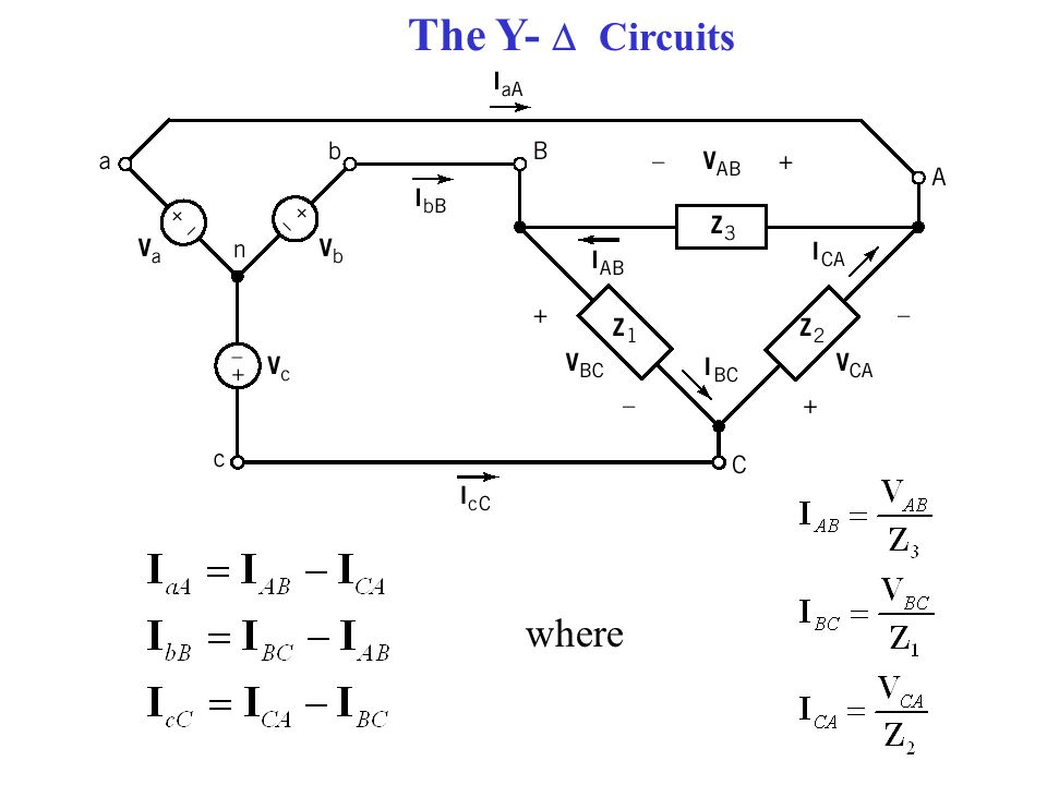 The Y-  Circuits where