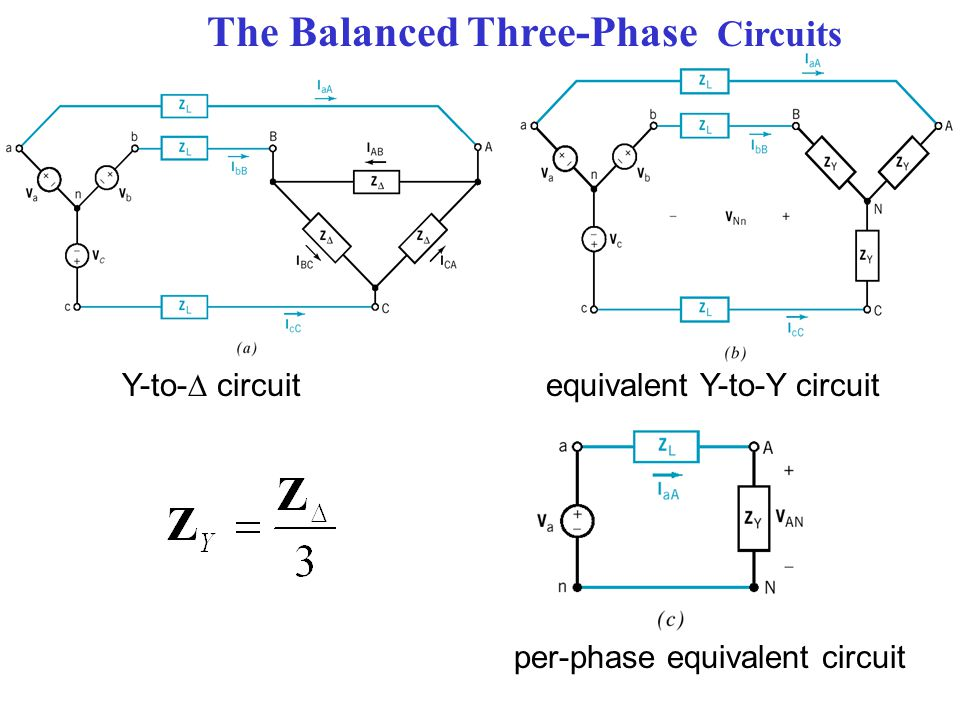 The Balanced Three-Phase Circuits