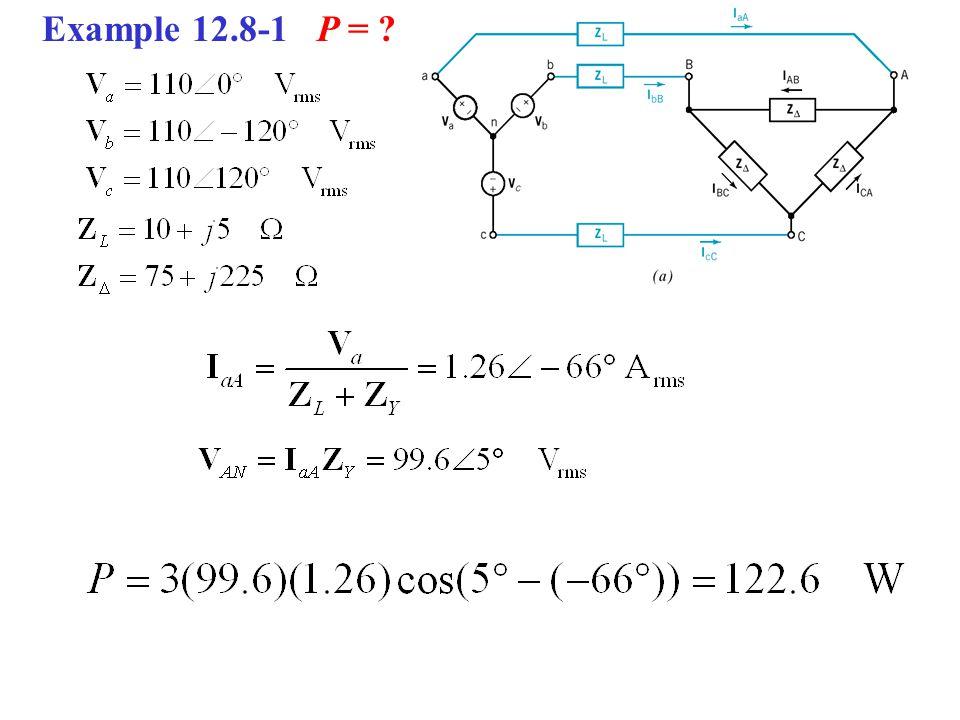 Example 12.8-1 P =