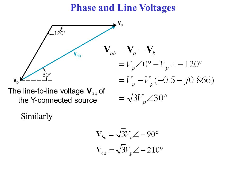 Phase and Line Voltages