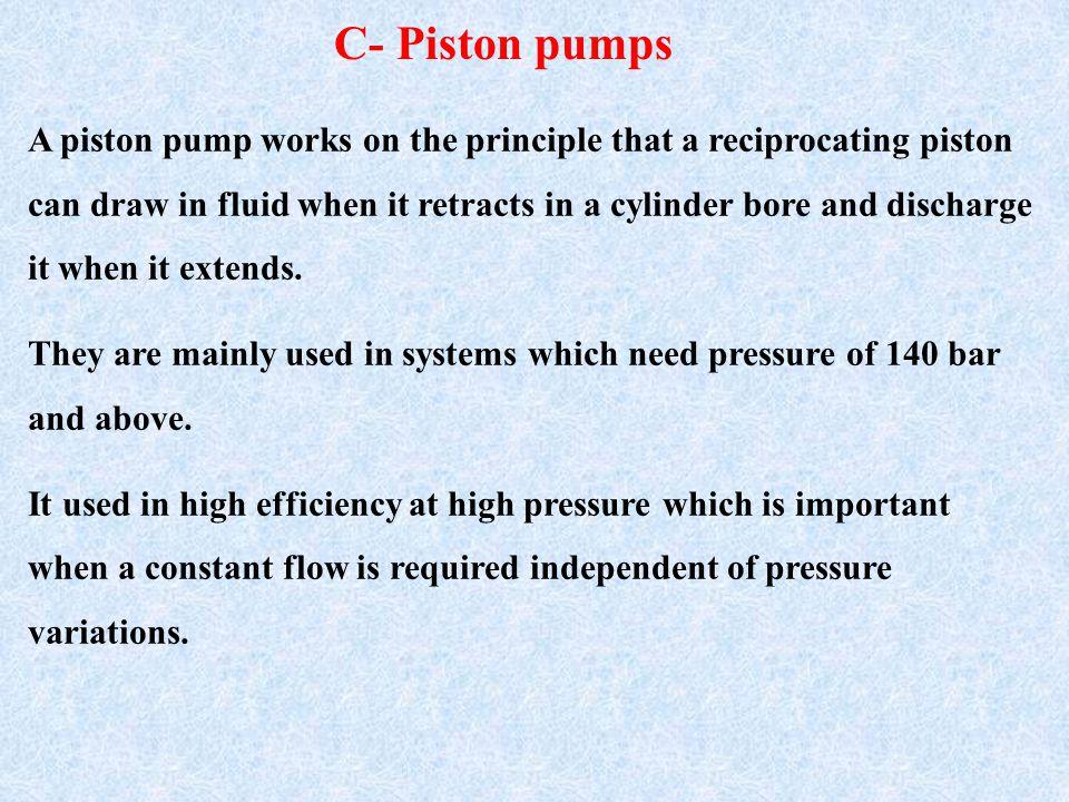 C- Piston pumps