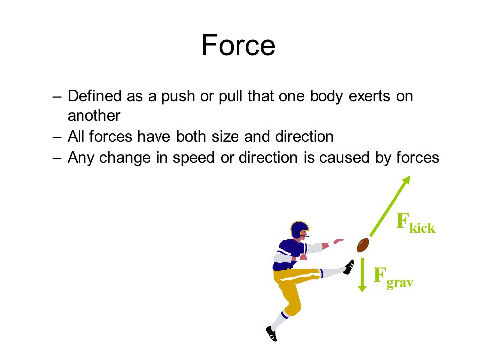 Force Defined As A Push Or Pull That One Body Exerts On Another. All Forces