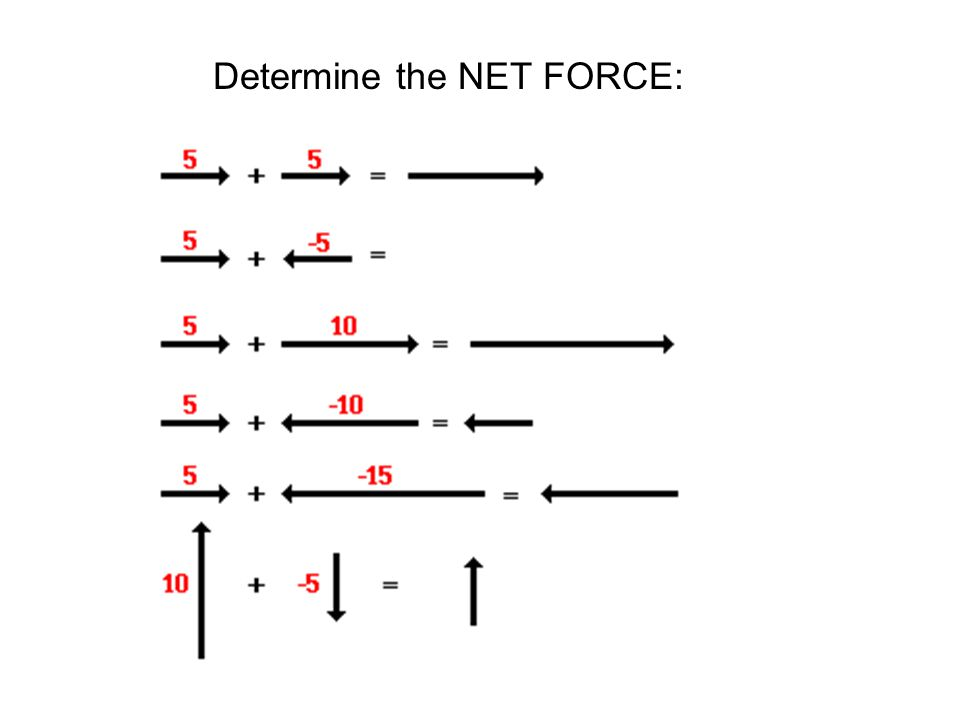 Determine the NET FORCE: