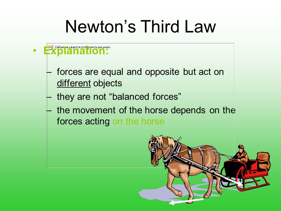 Newton's Third Law Explanation: