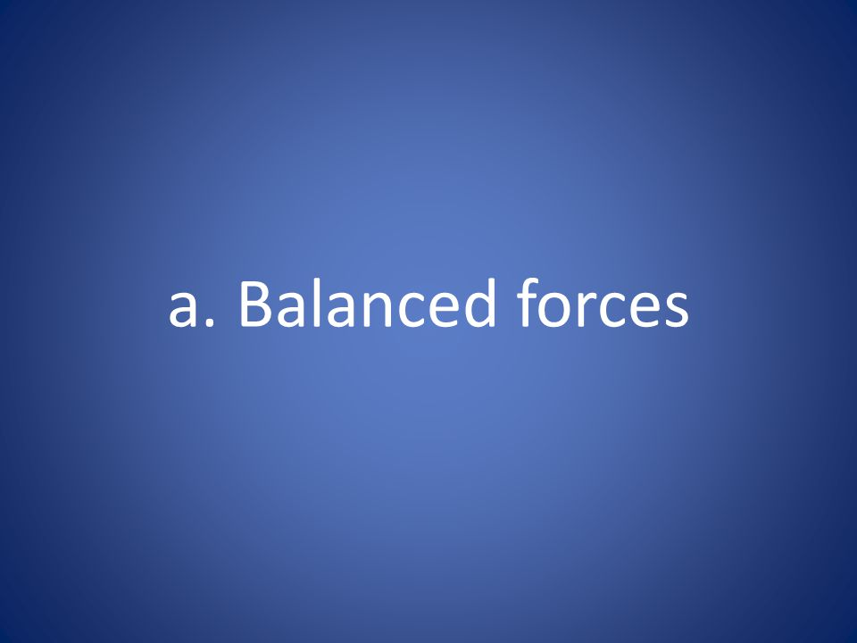 a. Balanced forces