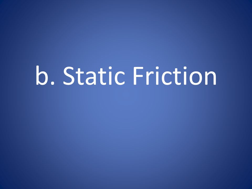 b. Static Friction