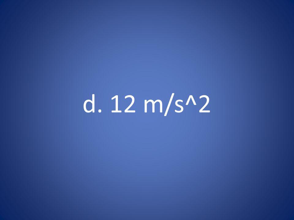 d. 12 m/s^2