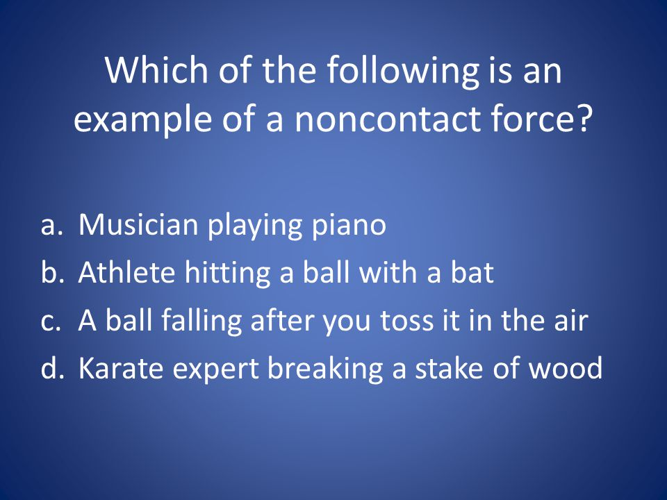 Which of the following is an example of a noncontact force