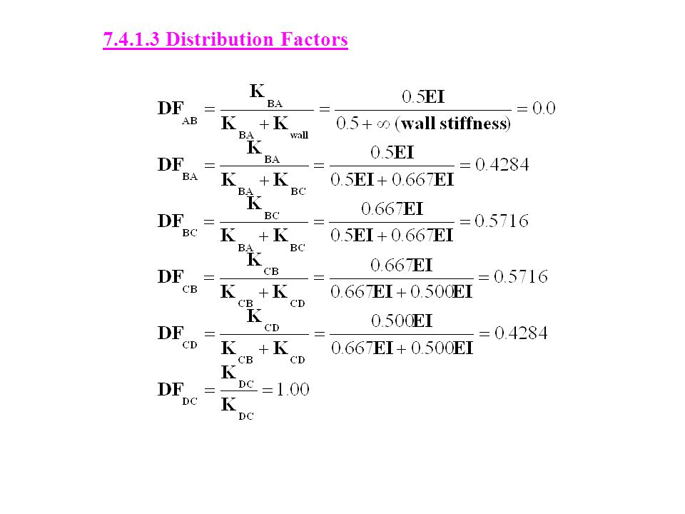 7.4.1.3 Distribution Factors