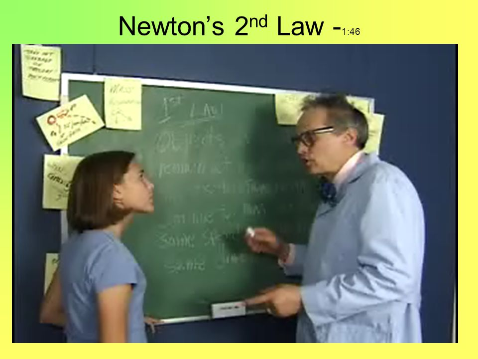 Newton's 2nd Law -1:46