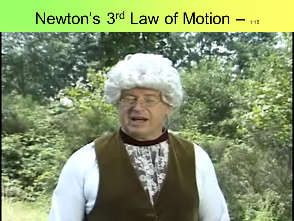 Newton's 3rd Law of Motion – 1:18