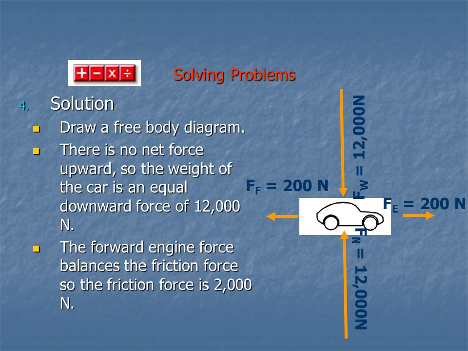 Solution Solving Problems Draw a free body diagram.