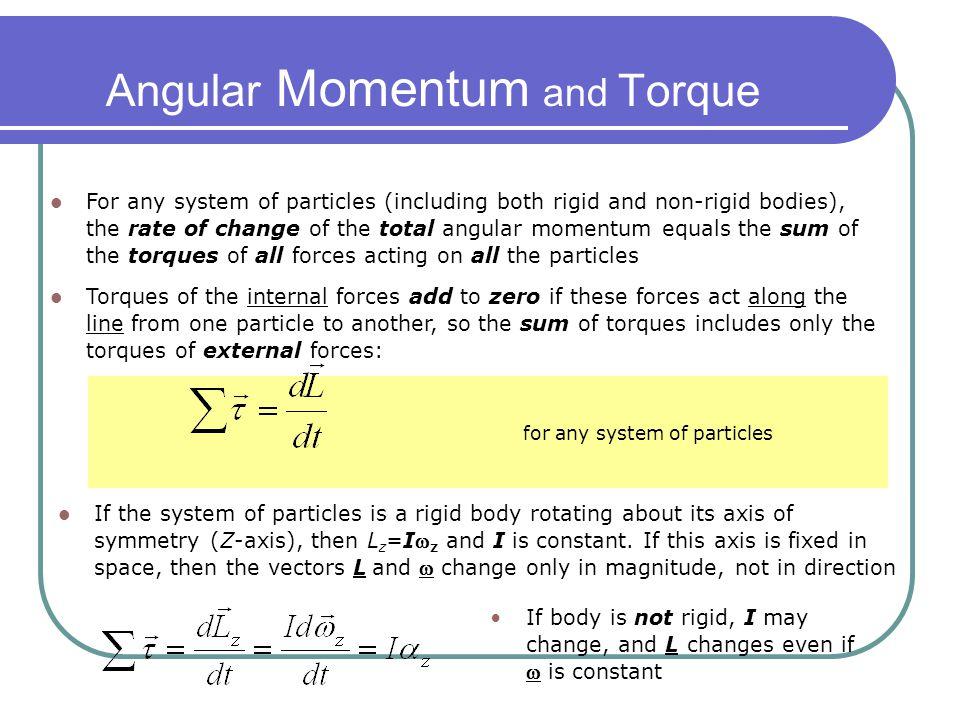Angular Momentum and Torque