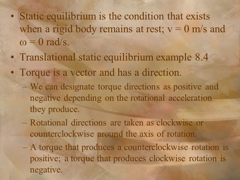 Translational static equilibrium example 8.4