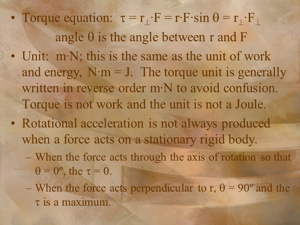 angle  is the angle between r and F