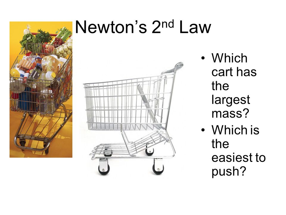 Newton's 2nd Law Which cart has the largest mass