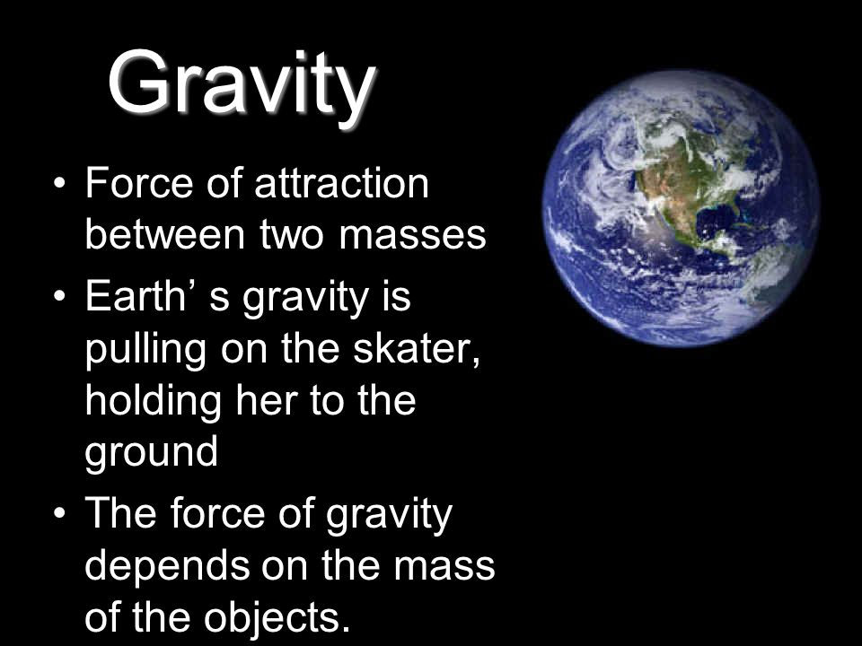 Gravity Force of attraction between two masses