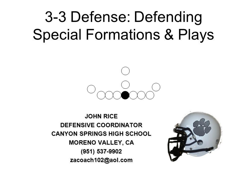 3-3 Defense: Defending Special Formations & Plays