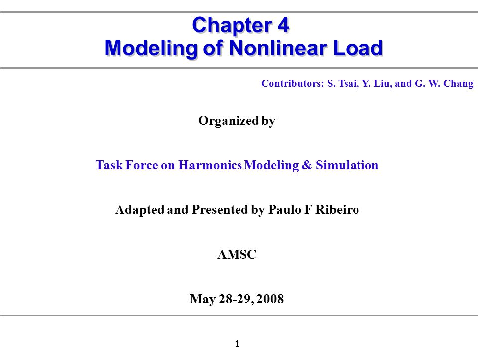 Chapter 4 Modeling of Nonlinear Load