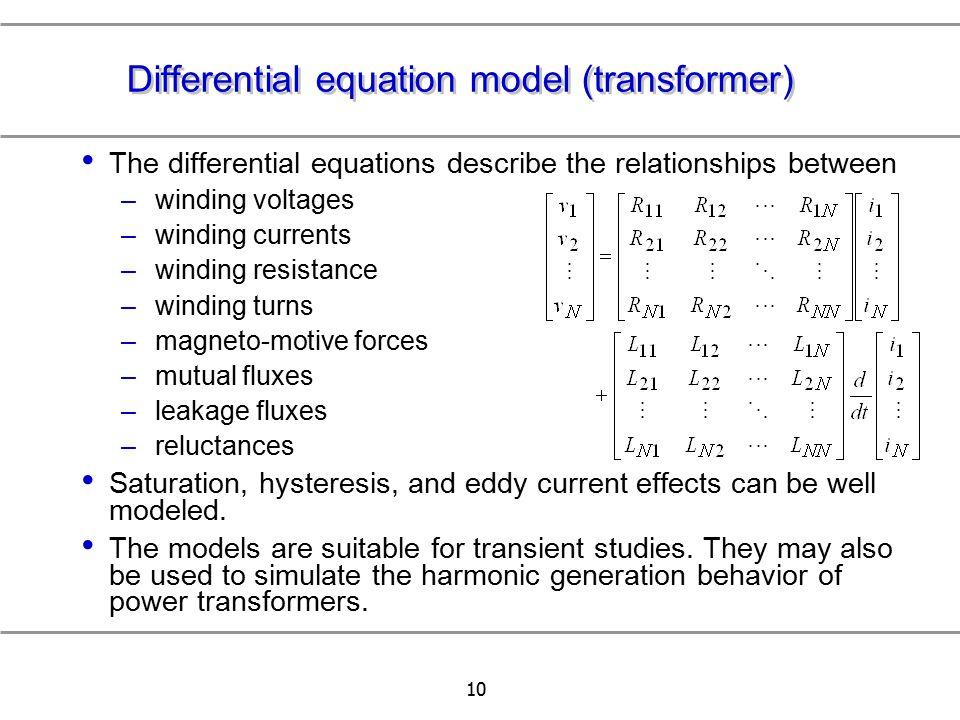 Differential equation model (transformer)
