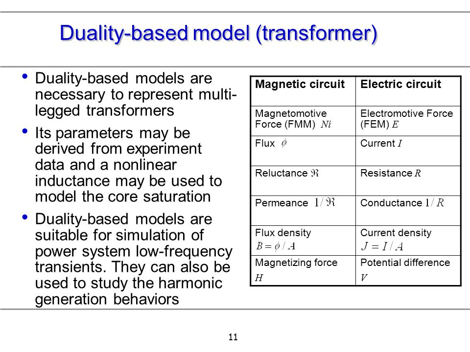Duality-based model (transformer)