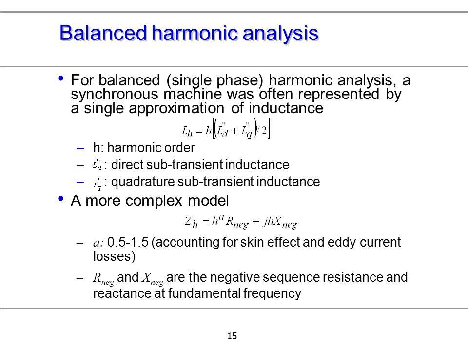 Balanced harmonic analysis