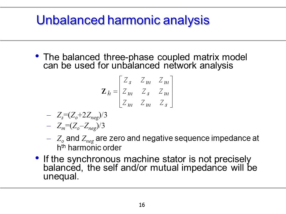 Network Analyzer And Harmonic : Chapter modeling of nonlinear load ppt download