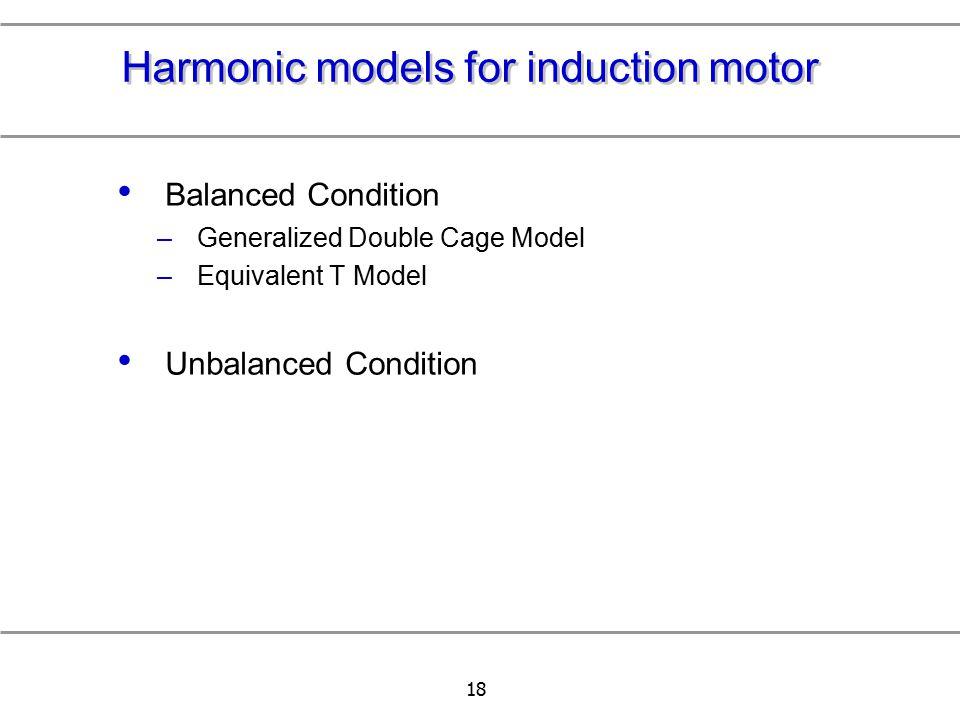 Harmonic models for induction motor