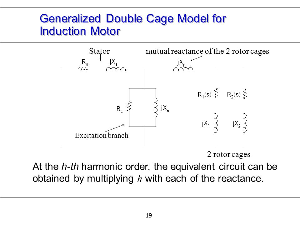 Generalized Double Cage Model for Induction Motor