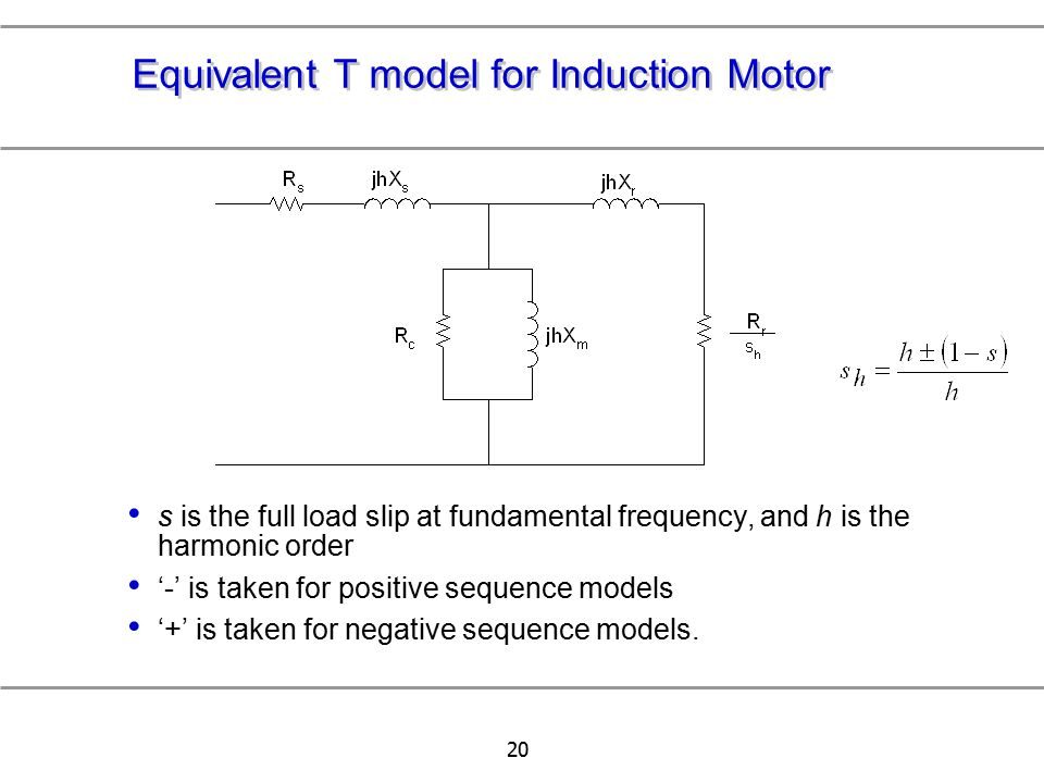 Equivalent T model for Induction Motor