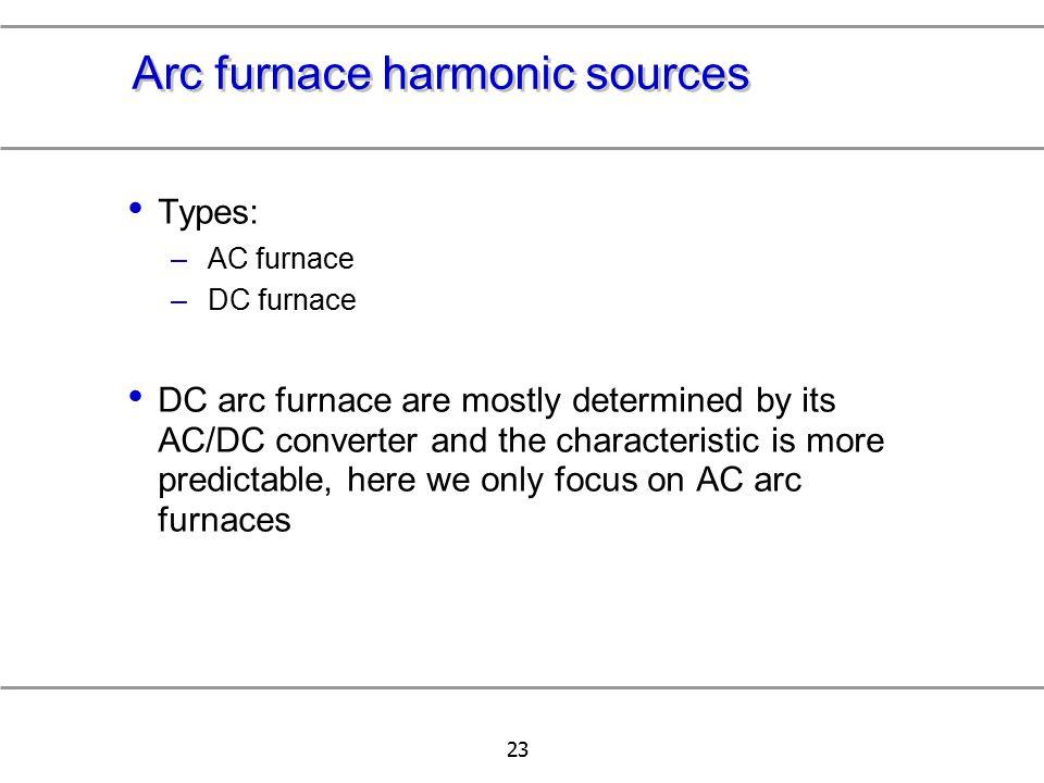 Arc furnace harmonic sources