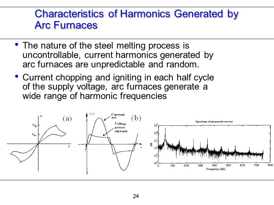 Characteristics of Harmonics Generated by Arc Furnaces