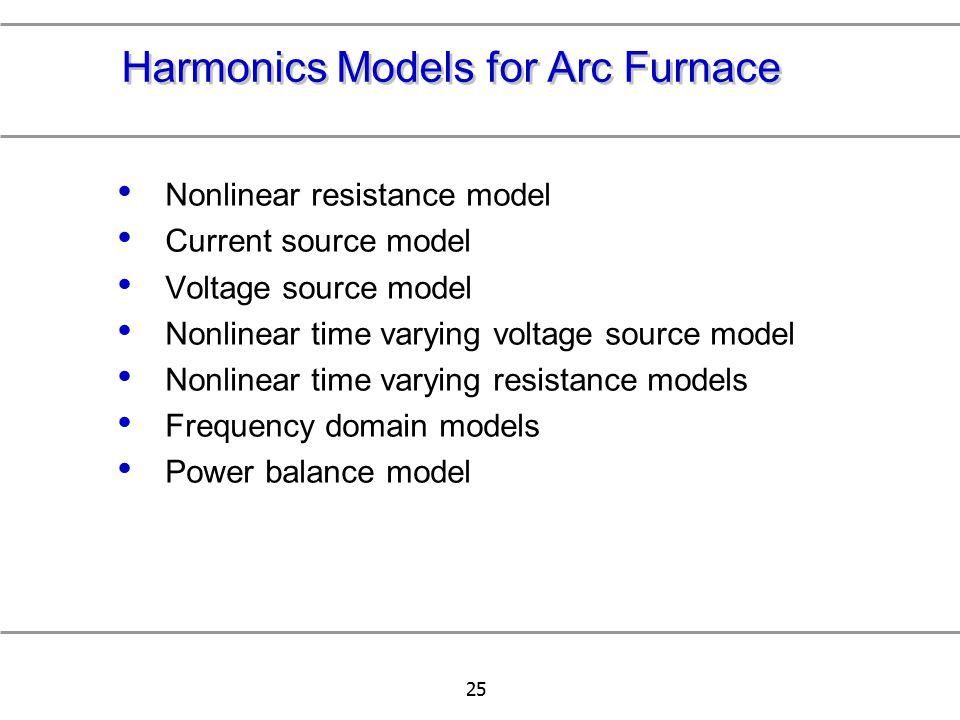 Harmonics Models for Arc Furnace