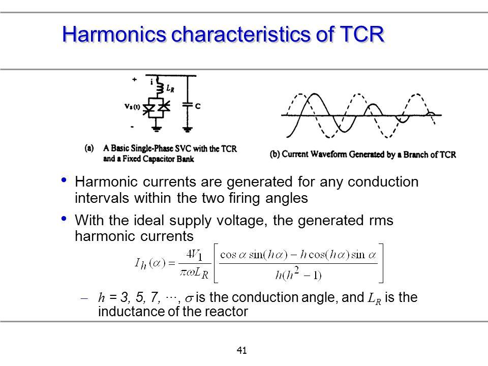 Harmonics characteristics of TCR
